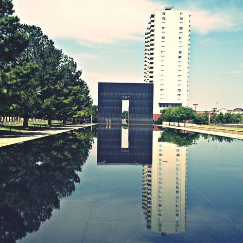 Water Reflections Oklahoma City Bombing Memorial