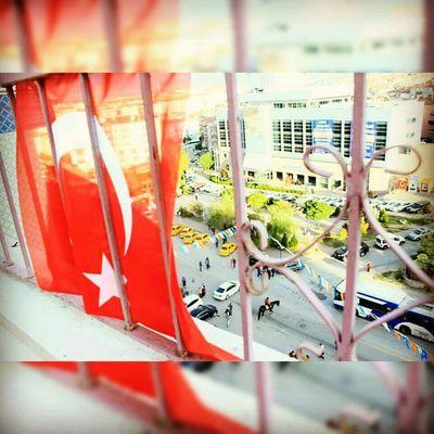 First Eyeem Photo Taking Photos Ankara Sincan Photography Bayrak Türkbayrağı Flag