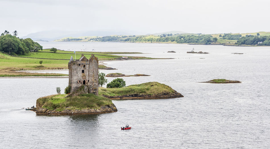 Appin Appin Castle Stalker Castle Castle Ruin Castle View  Castle Walls Castle Tower Castle Architecture Castle Lake Castle Photography Castle Island Ancient Castle Tower House Islet Tidal Island Tidal Islet Island Loch Laich Loch  Lake Lake View Lakeside Lakeshore Lakeview Highlands Scottish Highlands Scottish Scenery Scottish Castle National Scenic Area Scenics Lynn Of Lorne Lismore Architecture Building Exterior Water Day Daylight Landscape Lakescape Panorama Panoramic View Idyllic Tranquility Tranquil Scene High Angle View Elevated View View From Above Cloud - Sky Cloudy Sky Nautical Vessel
