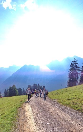 …the Family , on our way to Berghof Melkboden ! Hiking