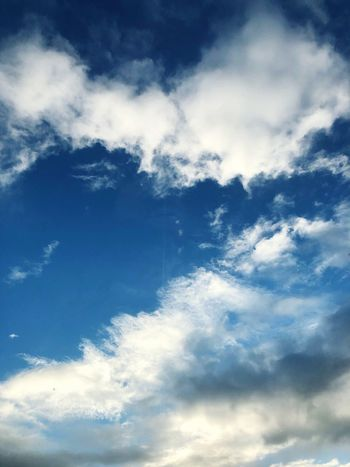 Cloud - Sky Sky Low Angle View Beauty In Nature Tranquility Nature Scenics - Nature Tranquil Scene No People Backgrounds Day Outdoors Idyllic Full Frame Meteorology Infinity Blue White Color Cloudscape Wispy