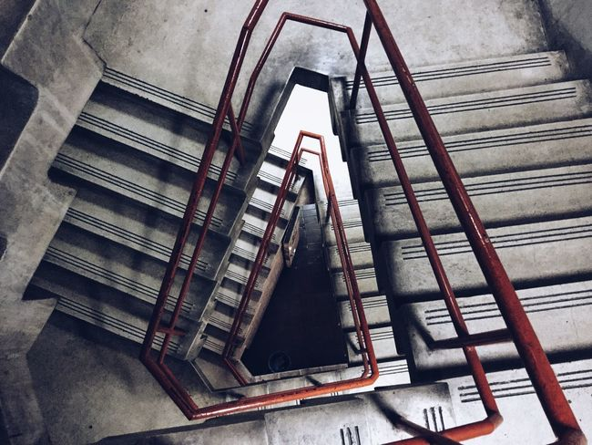 Beautifully Organized Staircase Steps And Staircases Railing High Angle View Built Structure Architecture No People Day Triangular Symmetry Abstract Rundown Cemetery