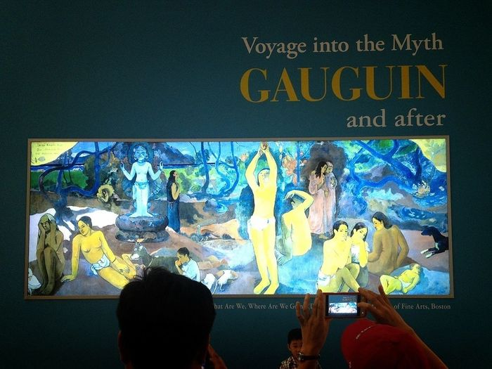 Paul Gauguin Fantastic Exhibition The Title Of This Art Work is Where Do We Come From, What Are We, Where Are We Going