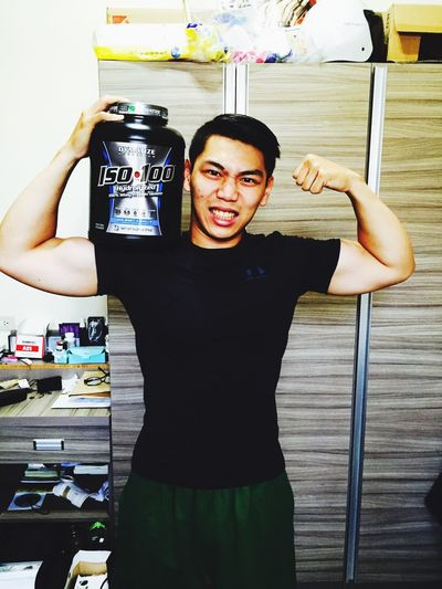 Here comes my new supplement, let's see how it works Whey Protein Supplement Workout Hard