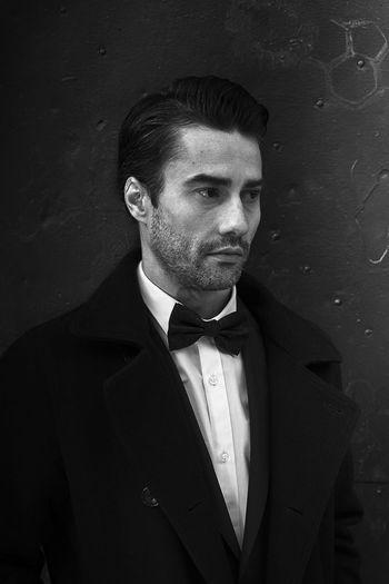 Adult Blackandwhite Blackandwhite Portrait Bow Tie Businessman Elégance Handsome Macho Men Old School One Man Only Photobook Suit Vintage