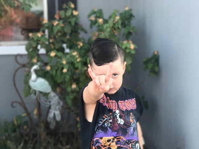 Childhood Front View Real People One Person Plant Lifestyles Day Outdoors Close-up Monster Jam Metal RockandRoll