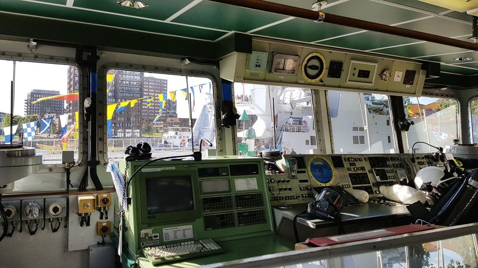 Window No People Indoors  Technology Army Marine Life Marine War Ship Warfare Boats Ships Ships⚓️⛵️🚢 Wereldhavendagen River Flag Flags In The Wind  Taking Pictures Taking Photos Eye4photography  Nautical Vessel Boats And Water Amazing Amazing View Technology Everywhere Buttons