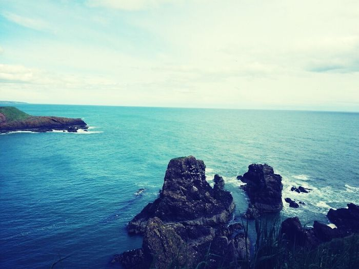 I went to a castle on the coast with my family. The Scottish scenery is just beautiful! Coastline Scotland Feeling Free In Nature