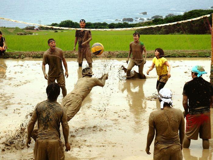 Faces Of Summer Tanbo volleyball at Kitakatabe,Sado Island,Niigata,Japan
