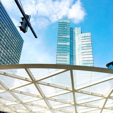 Low Angle View Architecture Built Structure Sky Day Modern Skyscraper Building Exterior Cloud - Sky City Street City Belgium Bruxelles Brussels❤️ Brussels Brussel Streetphotography Street Photography City Life Europe Architecture