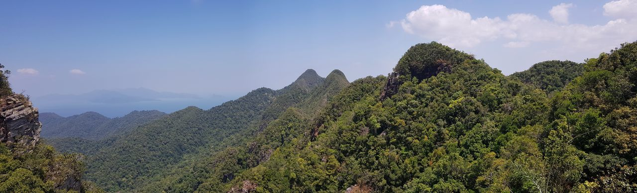 View of mountains from langkawi skybridge