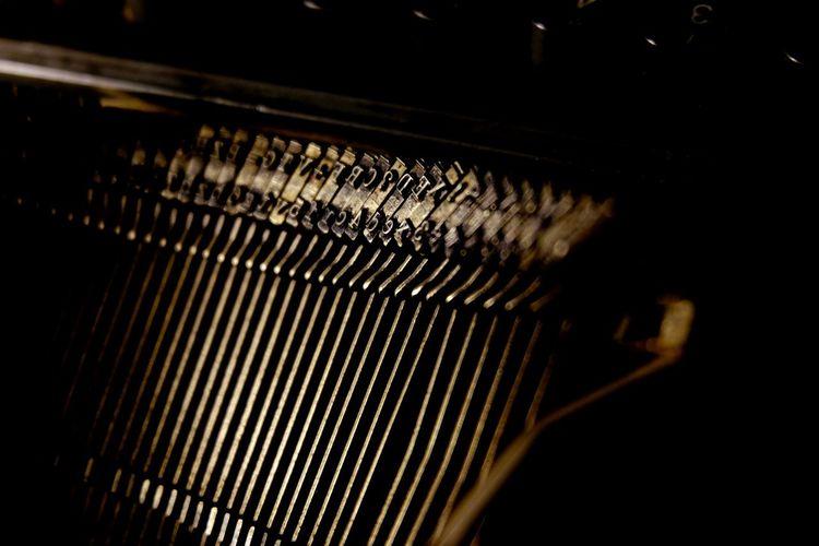 Full frame shot of old typewriter