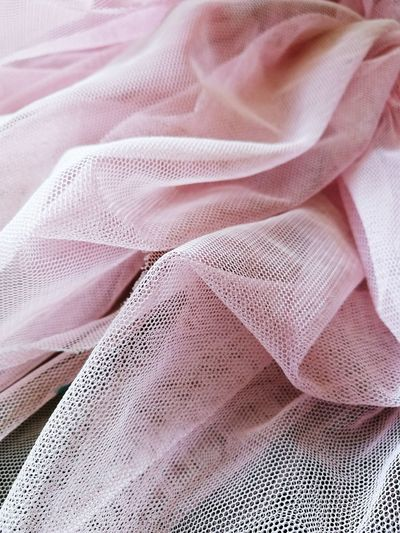 Close Up Everdaylife Material Fabric Princess Dress Clothes Tidying Up Mesh Pink Housework