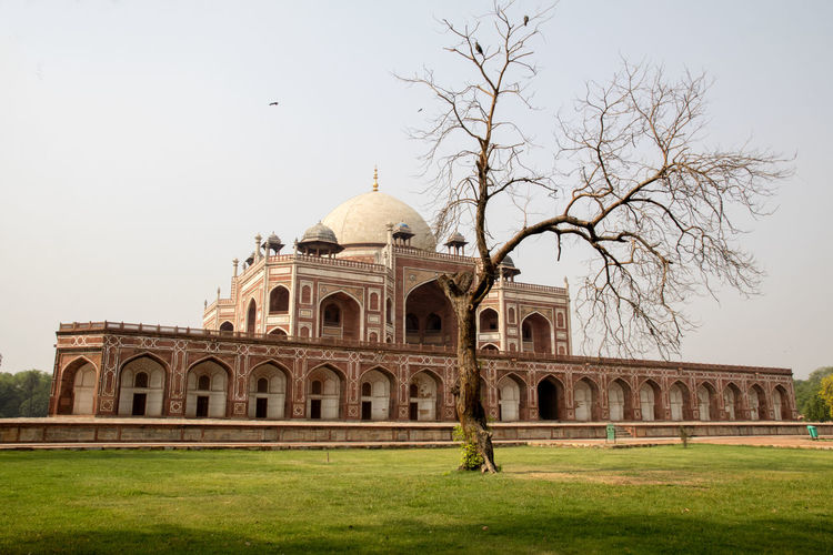 View of historical building against clear sky