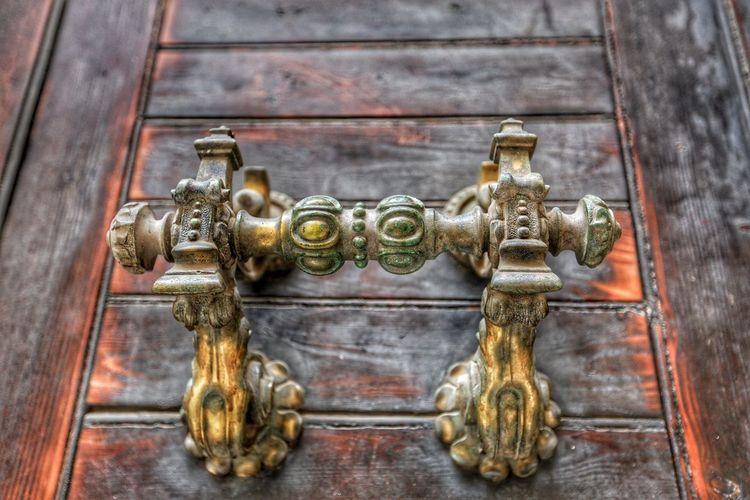 A beautiful door handle Door Door Knocker No People Wood - Material Close-up Day Indoors