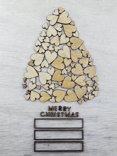 Merry Christmas, holiday 2017 Merry Christmas Christmas Tree Christmas Decoration Christmas Time Wood Words Love Love Shape Love Shape Tree Wood - Material Stack No People Nature Day Close-up Outdoors