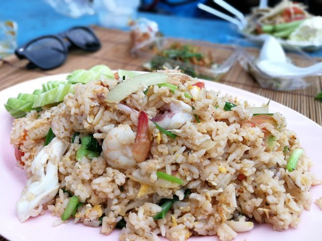 Close-up Focus On Foreground Food Food And Drink Freshness Fried Rice Healthy Eating No People Plate Ready-to-eat Rice - Food Staple Serving Size