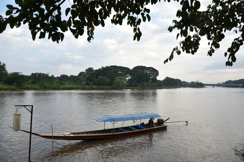 Beauty In Nature Chaingrai Cloud - Sky Day Kokriver Lake Nature Nautical Vessel No People Outdoors Pedal Boat Sky Tranquility Tree Water