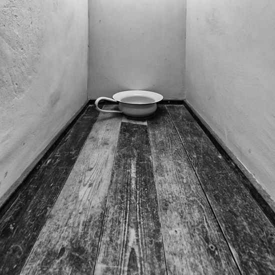high angle view of empty seats in bathroom Ancient B/W Photography EyeEm Best Shots EyeEm Selects EyeEm Gallery Absence Bathroom Blackandwhite Corner Domestic Bathroom Domestic Room Empty Flooring Fujifilm_xseries High Angle View Home Indoors  No People Old Seat Still Life Toilet Toilet Bowl Wall - Building Feature Wood - Material