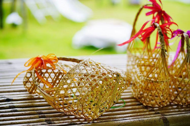 Handmade Crafts Patchwork Baskets Hand Made Natural Material Farm Life Egg Basket EyeEm Selects