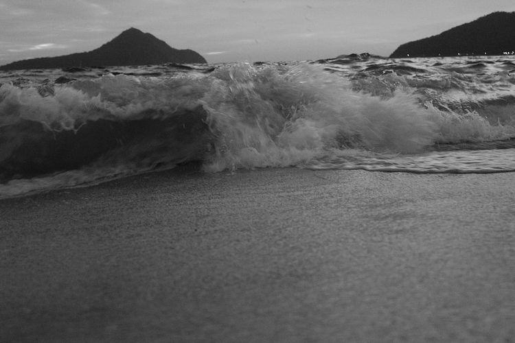 Sea Wave Water Surf Motion Beach EyeEm Best Shots EyeEm Gallery Blackandwhite Eyeem Australia Australian Landscape Holiday Port Stephens, Australia Dawn Daybreak Daybrea Monochrome Photography