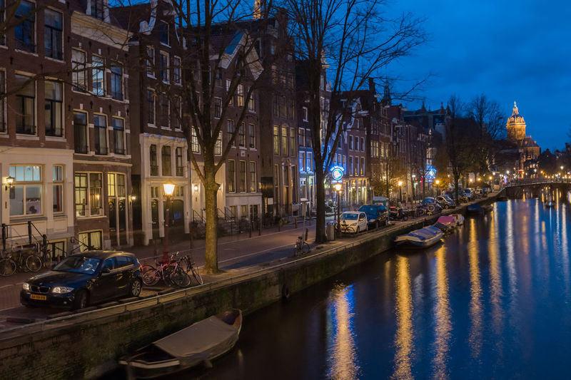 Amsterdam blues Amsterdam Architecture Blue Hour Building Built Structure Canal Capital Cities  Car City City Life City Street Dusk Dusk In The City Dutch Holland Long Exposure Nederland Netherlands Outdoors Red Light District Residential District Seeing The Sights Street