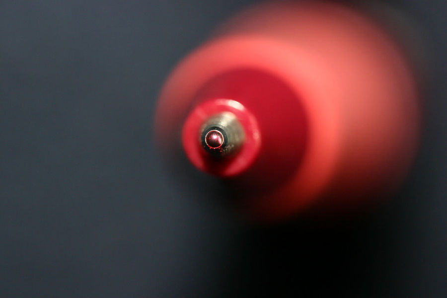 Bokeh Circle Macro Photography Objects Red Red Passion Writer Biro Bookcover Dark Background Fine Tip Formal Macro Pen Point Of View Red Color Red Pen Red Point Wrinting