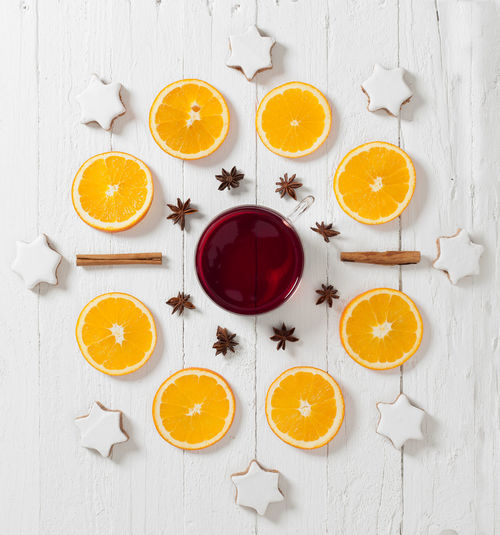 Hot spiced wine punch, mulled wine arrangement Arrangement Cinnamon Citrus Fruit Close-up Drink Drinking Glass Food Food And Drink Food Pattern Fruit High Angle View Hot Wine Indoors  Mulled Wine No People Orange - Fruit SLICE Spiced Wine Star Anise Studio Shot Wood - Material