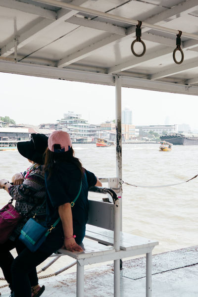 Bangkok Thailand Travel Travel Photography Traveling Travelling Boat Day Nautical Vessel People Real People Rear View River Sea Transportation Travel Destinations Two People Unrecognizable Person
