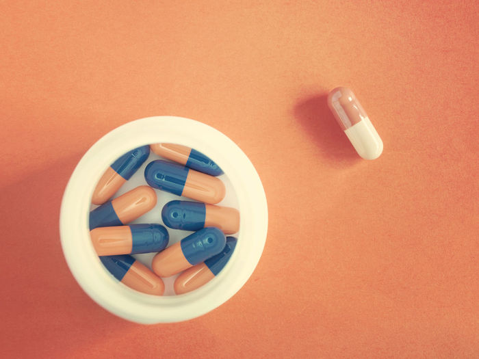 Pillstopia Capsules Drugs Health Indoors  Medicines Orange Color Pharmacology Pills Treatment