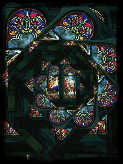 Leadlight of Notre Dame....