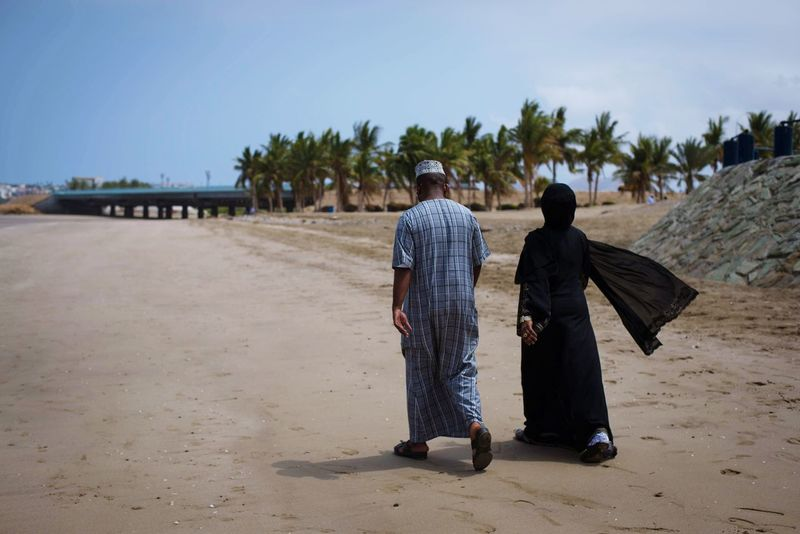 Arabian Sea Arabic Style Beach Life Couple Movement Muscat Muscat , Oman Palm Trees On The Beach Nature The Essence Of Summer The Great Outdoors - 2016 EyeEm Awards The Photojournalist - 2016 EyeEm Awards The Street Photographer - 2016 EyeEm Awards Walk On The Beach  Wind