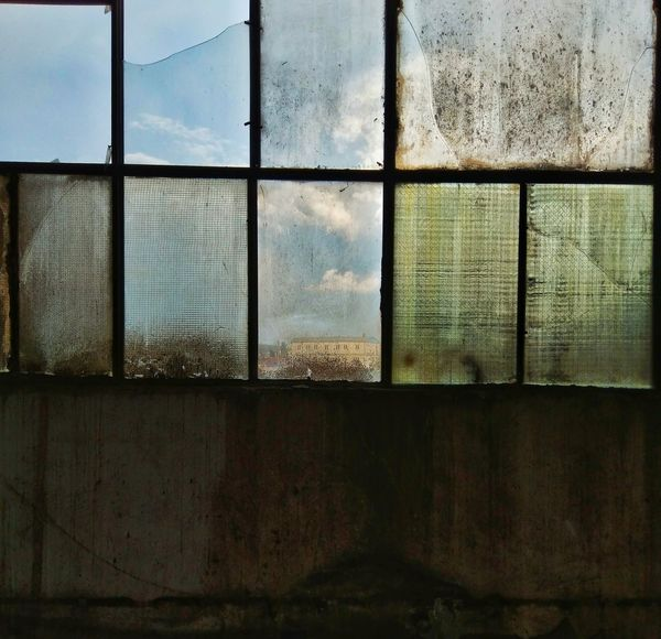 Sky Architecture Left Abandoned Factory Factory Building Windows Colour Window No People