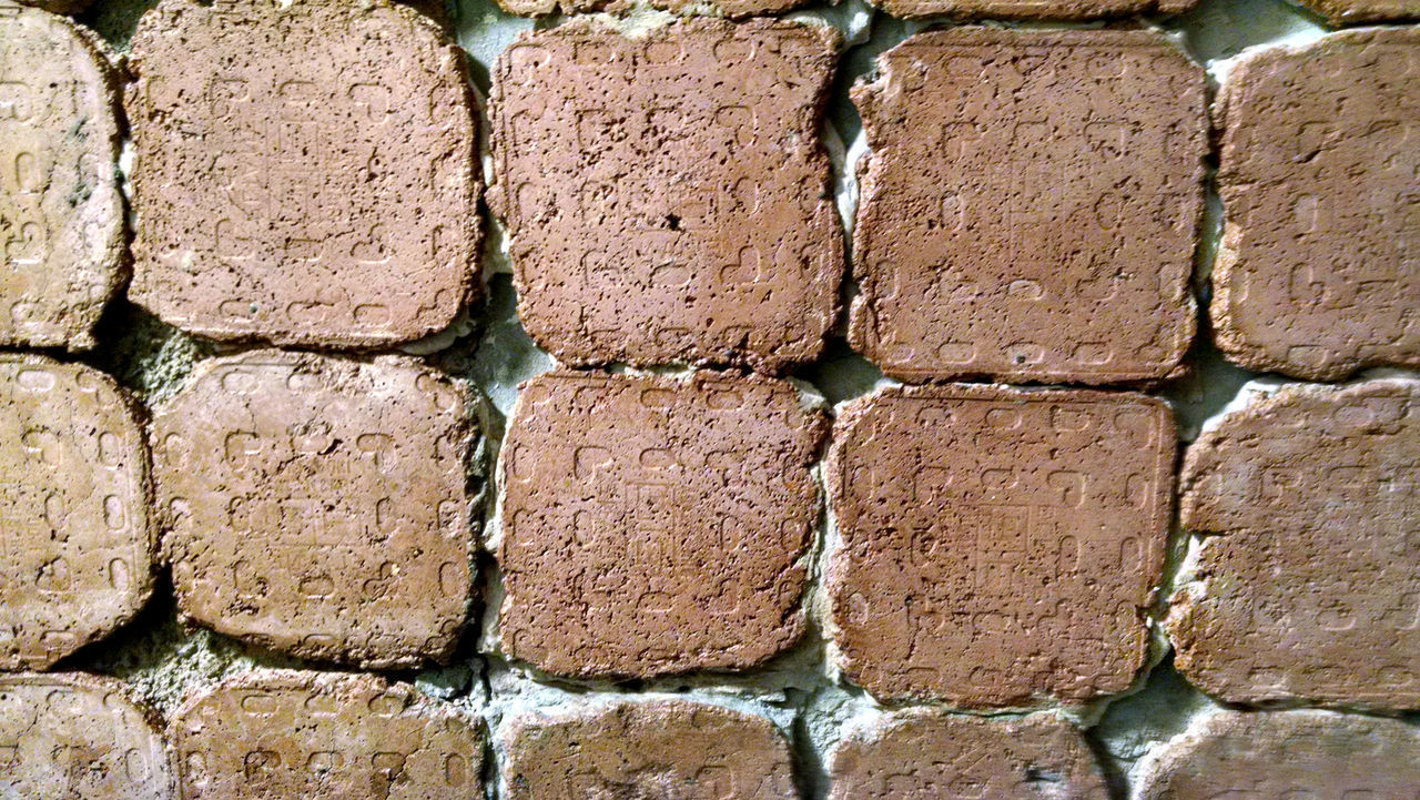 wall, backgrounds, brick, full frame, brick wall, textured, architecture, wall - building feature, built structure, no people, pattern, day, arrangement, in a row, old, close-up, side by side, rough, repetition, outdoors, stone wall