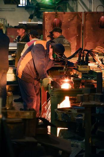 Factory Engineering Working Industry Metal Metal Industry Minsk Belarus Real People Heat - Temperature Travel