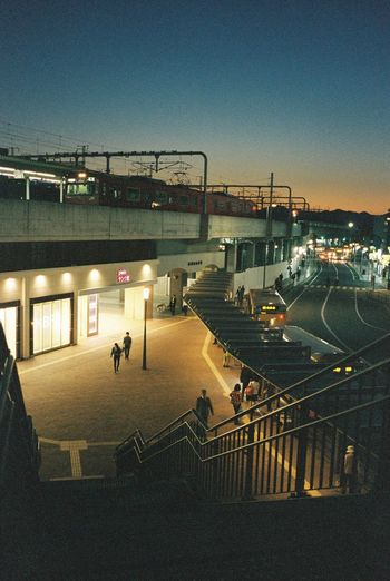 Himeji Himeji Station Japan Train Station Sunset Travel Photography Contax T3 35mm Film Film Urbanphotography People Watching Relaxing The Journey Is The Destination