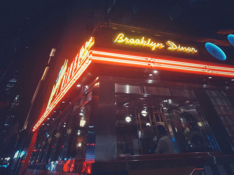 Usa Trip 2017 Last Summer Let's Go Explore USA New York City Manhatten Last Days Of Summer New York City Life Urbanphotography Illuminated Text Western Script City Information Neon Outdoors Diner