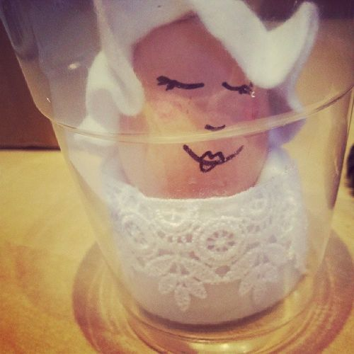 Isn't this the cutest?! Girls at school are looking after an egg for a week, it's adorable!! 100happydays Day36 Littlethings Cosyegg silly