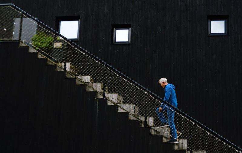 Blue up Blue Travel Architecture Denmark Vejle Nikon Full Length Senior Adult Portrait Women Occupation Working Office Building Staircase Stairs Stairway Building #urbanana: The Urban Playground