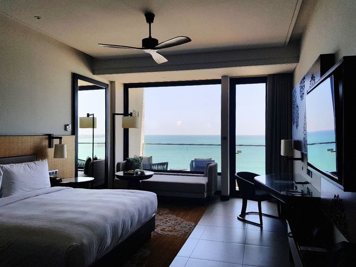 View to die for! Marriott, Weligama Marriott Weligama Mobilephotography Balcony Hotel Interior Hotel Room Water Sea Luxury Modern Wealth Sky Architecture Holiday Villa Horizon Over Water Ocean Ceiling Fan Hooded Beach Chair Sliding Door Shore Electric Fan Calm Open Plan Fan