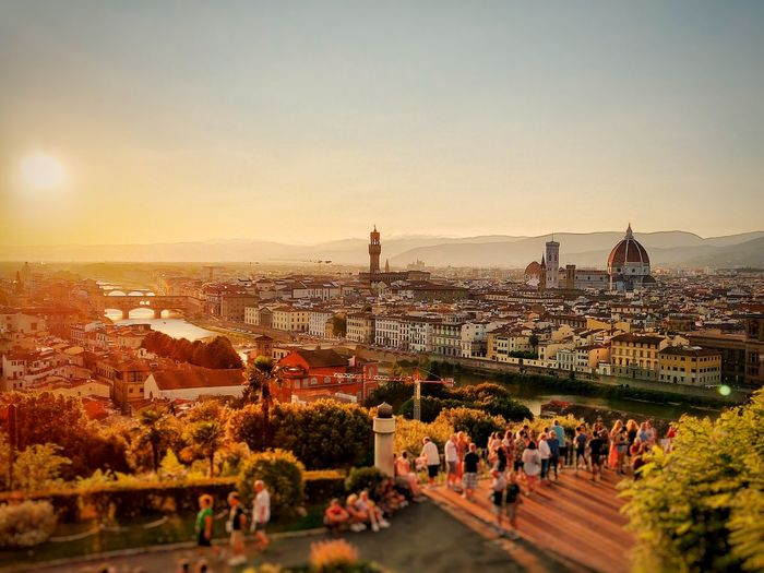Firenze at sunset Skyline Firenze Arts Culture And Entertainment City Men Sky Architecture Built Structure Dome