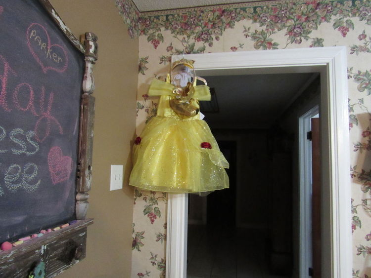 Princess Belle Child Dressing Up Girl Indoors  Princess Princess Belle Princess Dress Rosé Wall Yellow Paint The Town Yellow