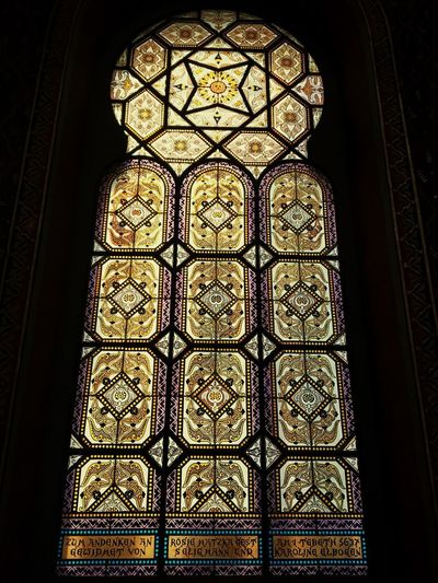 Jewish Synagogue - Prague Jewish Holocaust Beauty Warm Pattern Indoors  Art And Craft Low Angle View Design No People Window Glass - Material Creativity Built Structure Architecture Stained Glass Religion Glass Belief Ornate Floral Pattern Building Ceiling Decoration EyeEmNewHere