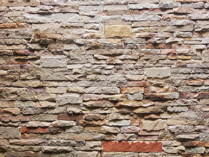 Wall Brick Backgrounds Full Frame Textured  Pattern Close-up Seamless Pattern LINE Rough Architectural Design Rugged