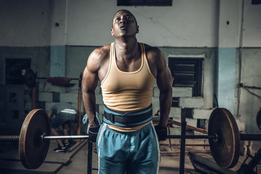 Not a fancy but effective gym in Havana Cuba People Storytelling Travel Cuba Havana Exercising Muscular Build Sports Training Strength Gym Healthy Lifestyle Weight Body Building Lifestyles