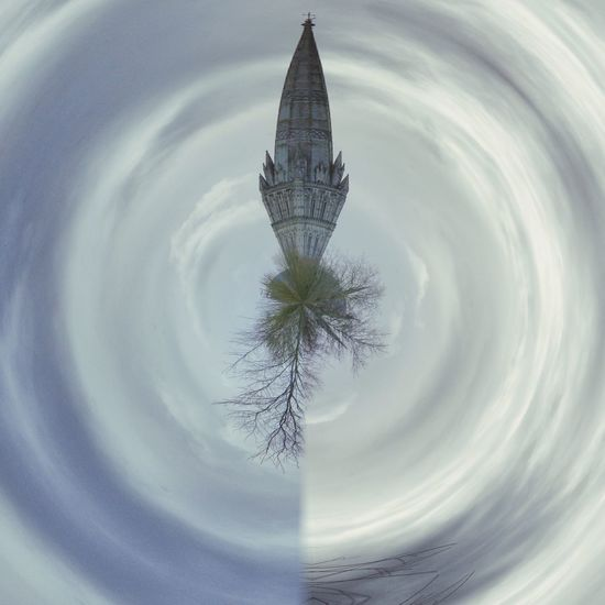 Polarising Filter Cathedral Edit Junkie Artistic Expression Cold Temperature Spire  Winterscapes Clouds Sky Trees And Clouds
