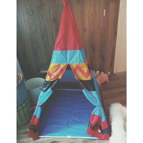 Camping tent Camp Tent Forkid Tinysgiantstudio cute aztec