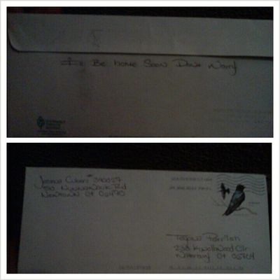 a letter from my baby ♥ made my day :*