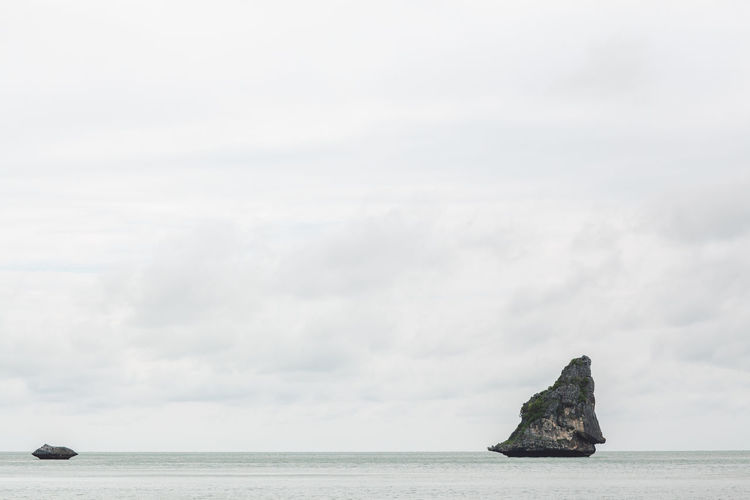 Sea Water Sky Rock Nature Tranquility Cloud - Sky Day Scenics - Nature Tranquil Scene Beauty In Nature Horizon Waterfront No People Rock - Object Solid Horizon Over Water Outdoors Idyllic Stack Rock