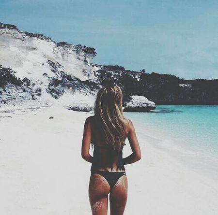 Beach Blackswimmsuit Bitch Stolenshot Sexybutt Sexygirl FModel